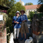 Amanda Ponsonby (left) and Josephine Fitzalan-Howard with Myrtle and Maud head off from Dorchester to Christchurch College on the Pilgrim's walk, via the British Pilgrimage Trust.