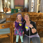 Leah and Amelia Mattinson, taken at St Michael & All Angels church.